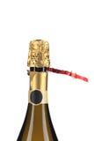 Szampańska butelka z wierzchołek folią. Fotografia Royalty Free