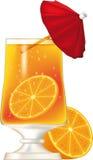 szampańska szklana pomarańcze royalty ilustracja
