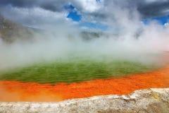 szampański gorący nowy basenu wiosna thermal Zealand zdjęcie stock