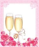szampański target1912_1_ szkieł Zdjęcie Stock
