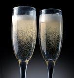 Szampański wznosić toast Obrazy Royalty Free