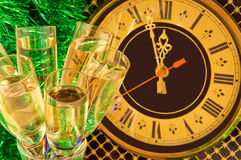 szampańskich wigilii szkieł nowy s rok Zdjęcia Royalty Free