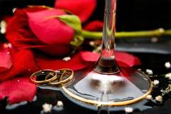 szampańskie róże Zdjęcie Stock