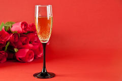 szampańskie róże Obraz Stock