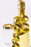 szampańskiej wigilii szklany nowy s rok obraz royalty free