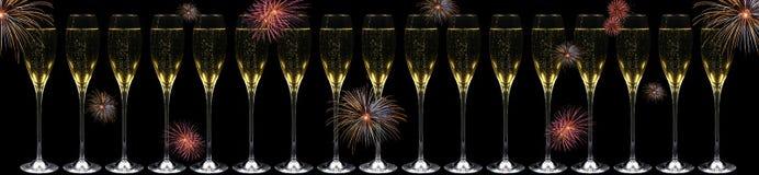 szampańscy fajerwerki Zdjęcia Stock