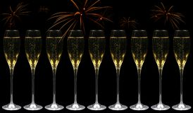 szampańscy fajerwerki Zdjęcie Royalty Free