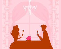 szampańscy pary napoju flirtu potomstwa Obraz Stock