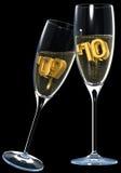 szampańska grzanka Obrazy Stock