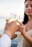 szampańska grzanka Fotografia Stock