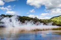 Szampański basen w Waiotapu Termicznej rezerwie, Rotorua, Nowa Zelandia Obrazy Stock