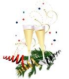 szampański nowy s grzanki rok Zdjęcia Stock