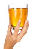 szampański szklany mienie Obraz Stock