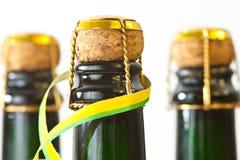 Szampańskie butelki Zdjęcie Stock