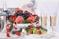 Szampan Nowy year& x27; s wigilia Świętowanie Zdjęcie Stock