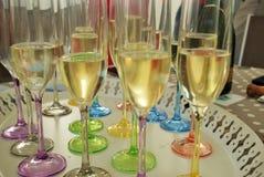 Szampan pije glases dla świętowania fotografia royalty free