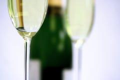 szampan zbliżenie na flecie obraz stock
