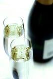 szampan zbliżenie na flecie zdjęcia royalty free