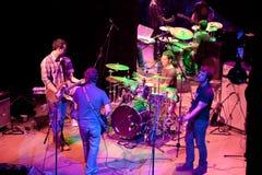 szampana koncerta grupy indie wystrzał Zdjęcie Royalty Free