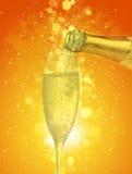 szampański szkło Obraz Stock