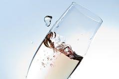 szampański szkło v2 Obraz Royalty Free