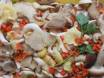 szampinionu pieczarkowy jedzenie Obrazy Stock