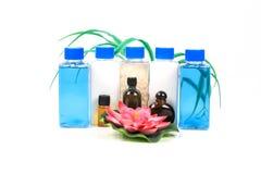 Szamponów oleje i butelki Obrazy Stock