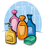 szamponu mydło Zdjęcie Stock