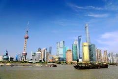 Szanghaj biggist miasto w porcelanie Fotografia Stock
