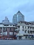 Szanghaj budynku ulicy uroczy widok obraz royalty free