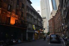 Szanghaj budynku ulicy widok zdjęcia stock