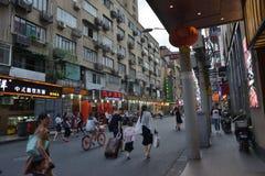Szanghaj budynku ulicy widok obraz stock