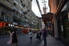 Szanghaj budynku ulicy widok obraz royalty free
