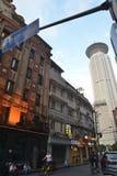 Szanghaj budynku uliczny drogowy znak obrazy royalty free