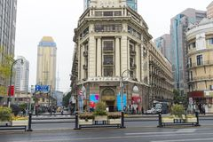 SZANGHAJ CHINY, Dec, - 28, 2017: Dziejowa architektura na wschodzie Obraz Stock