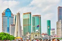 SZANGHAJ CHINY, MAJ, - 22 2015: Ludzie mieszkanowie Shang Zdjęcia Royalty Free