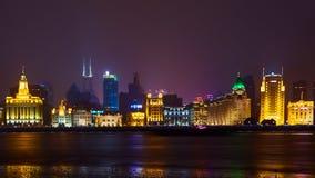 Szanghaj Chiny, Marzec, - 12, 2016: Bund ja jest nabrzeża terenem który biega wzdłuż zachodniego banka Huangpu rzeka zdjęcia stock