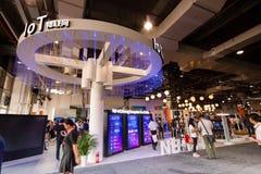 SZANGHAJ CHINY, WRZESIEŃ, - 2, 2016: Internet rzeczy Huawei b Zdjęcia Royalty Free