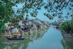 Szanghaj Fengjin Antyczny miasteczko Chiny Obrazy Stock