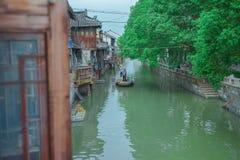 Szanghaj Fengjin Antyczny miasteczko Chiny Zdjęcie Royalty Free