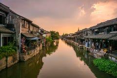 Szanghaj Historyczny Watertown, Xitang, Chiny Zdjęcie Royalty Free
