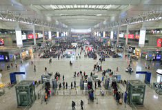 Szanghaj Hongqiao stacja kolejowa Fotografia Stock