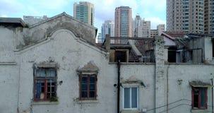 Szanghaj - kiedykolwiek zmieniać miasto obrazy royalty free