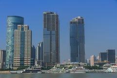 Szanghaj landmarkï ¼ ŒShip w Huangpu rzece Obraz Royalty Free