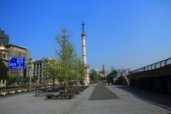 Szanghaj landmarkï ¼ ŒShip w Huangpu rzece Obrazy Royalty Free