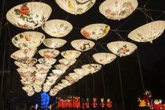 2016 Szanghaj Magicznego lampionu Międzynarodowy Karnawałowy miasto światło Obrazy Royalty Free