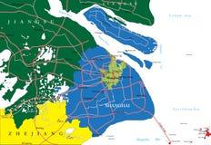 Szanghaj mapa Zdjęcia Stock