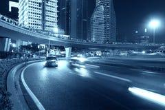 Szanghaj miasta drogi światła ślada Obraz Royalty Free