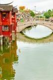 Szanghaj most blisko Yu ogródu obrazy stock
