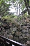 Szanghaj, 2nd może: Rockery krajobraz od sławnego Yu ogródu na śródmieściu Szanghaj obrazy royalty free